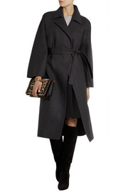 Valentino Wool-blend felt wrap coat