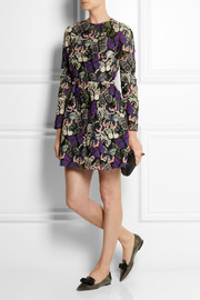 Valentino Embroidered guipure lace mini dress