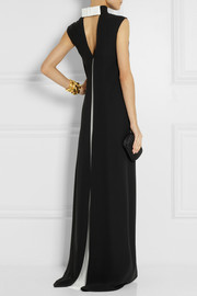Valentino Bow-embellished silk-crepe gown