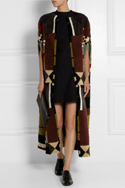 Valentino Patchwork shearling cape