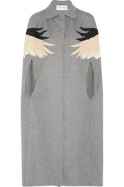Valentino Appliquéd wool-blend felt cape