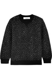 Valentino Chevron-patterned wool-blend sweater