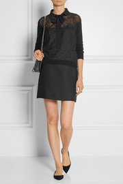 Valentino Lace-paneled wool and cashmere-blend sweater
