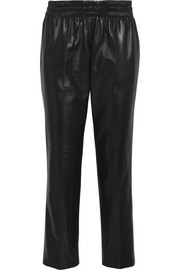 Valentino Leather tapered pants