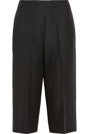 Valentino Wool and silk-blend crepe culottes