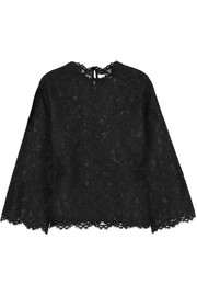Valentino Lace and silk-organza top