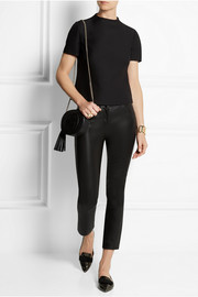 Valentino Wool and silk-blend crepe top