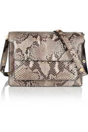 Marni Trunk medium python shoulder bag