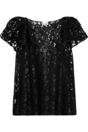 PHILOSOPHY Ruffled glossed lace top