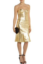 Moschino Cheap and Chic Metallic leather skirt