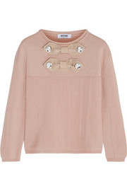 Moschino Cheap and Chic Crystal-embellished wool sweater