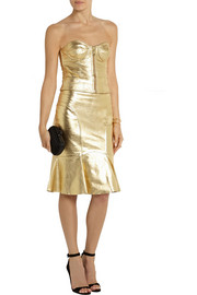 Moschino Cheap and Chic Metallic leather bustier