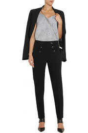Moschino Cheap and Chic High-rise wool-crepe straight-leg pants