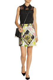 Moschino Cheap and Chic Printed satin mini skirt
