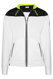Hooded stretch-jersey jacket