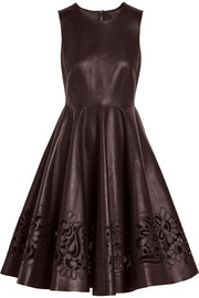 Dolce & Gabbana Cutout leather dress