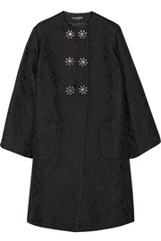Dolce & Gabbana Embellished cotton and silk-blend floral-jacquard coat