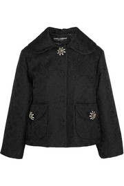 Dolce & Gabbana Embellished cotton and silk-blend floral-jacquard jacket