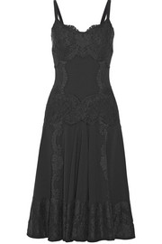 Dolce & Gabbana Lace-appliquéd crepe dress