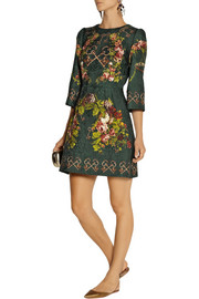 Dolce & Gabbana Printed matelassé mini dress