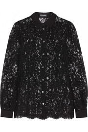 Dolce & Gabbana Cotton-blend lace blouse