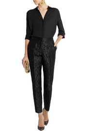 Dolce & Gabbana Satin-jacquard tapered pants