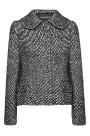 Crystal-embellished bouclé-tweed jacket