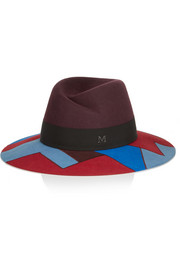 Maison Michel Virginie wide-brim rabbit-felt hat