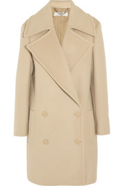 Fiamma double-breasted brushed-wool coat