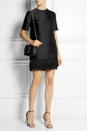 Stella McCartney Aude fringed satin mini dress