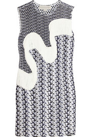 Stella McCartney Agatha fringed wicker lace mini dress