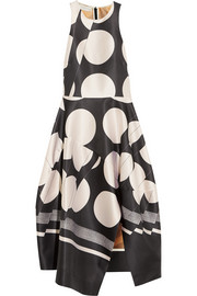 Stella McCartney Adalina printed satin-twill dress