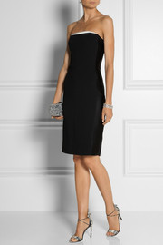 Stella McCartney Azelia satin-trimmed stretch-cady dress