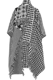 Stella McCartney Houndstooth wool blanket coat