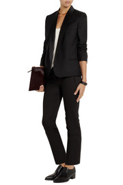 Stella McCartney Candle satin-trimmed wool-twill blazer