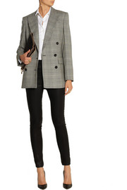 Stella McCartney Prince of Wales check stretch-wool double-breasted blazer