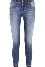 Stella McCartney The Skinny cropped mid-rise jeans