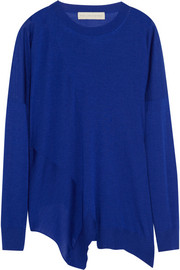 Stella McCartney Asymmetric wool and silk-blend sweater