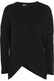 Stella McCartney Asymmetric ribbed wool sweater