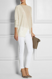 Stella McCartney Asymmetric two-tone wool sweater