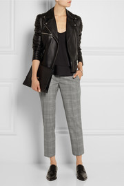 Stella McCartney Dorot Prince of Wales check stretch-wool tapered pants