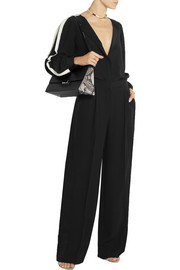 Stella McCartney Costanza satin-trimmed crepe wide-leg pants
