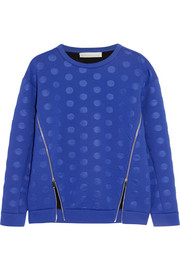 Stella McCartney Polka-dot scuba-jersey sweatshirt