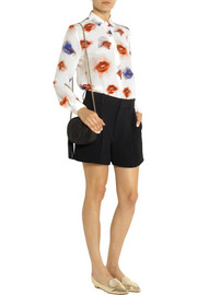 MSGM Printed silk crepe de chine shirt
