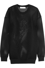Stella McCartney Unicorn-embroidered mesh sweatshirt