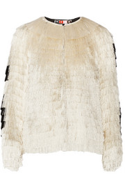 MSGM Fringed jacket