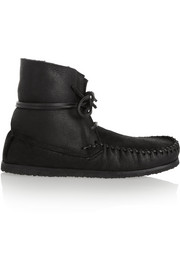 Isabel Marant Étoile Eve shearling-lined leather moccasin boots