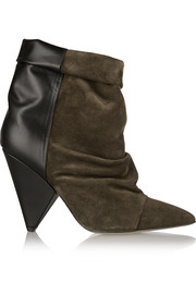 Andrew suede and leather ankle boots