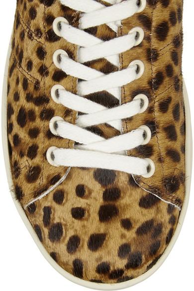 5a322de5e933 Isabel Marant. Étoile Bart leopard-print calf hair sneakers. $177. Zoom In