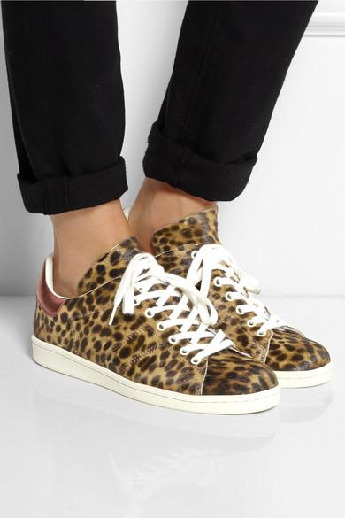 Isabel Marant 201 Toile Bart Leopard Print Calf Hair